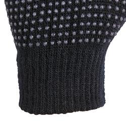 Tricot rijhandschoenen voor kinderen zwart