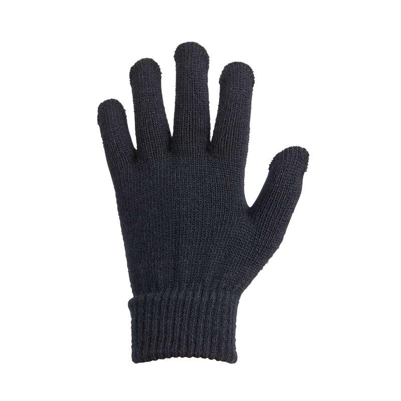 РЪКАВИЦИ ЕЗДА ВСИЧКИ НИВА ДЕЦА - Детски ръкавици TRICOT, черни FOUGANZA