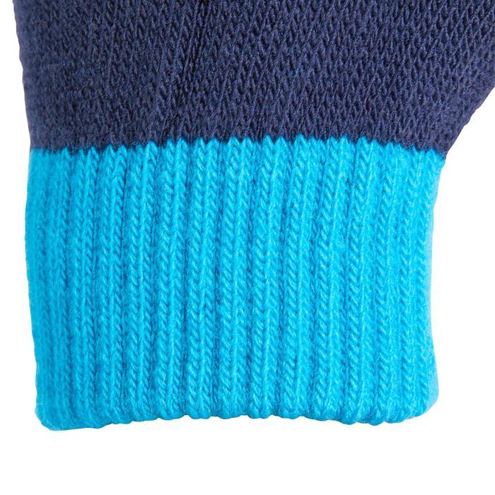 Tricot rijhandschoenen voor kinderen marineblauw en turquoise
