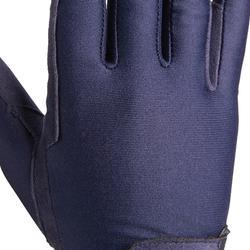 Rijhandschoenen Basic voor kinderen ruitersport marineblauw
