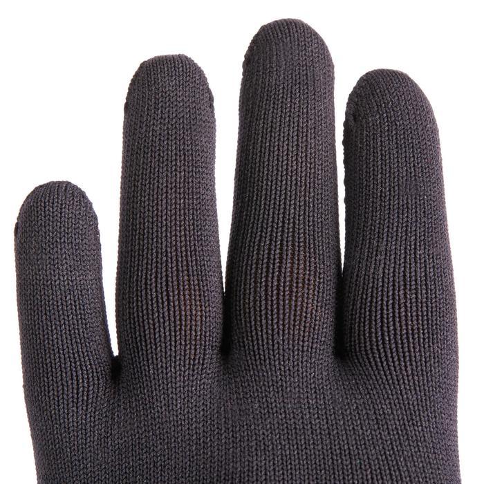 Rijhandschoenen 100 voor kinderen ruitersport zwart