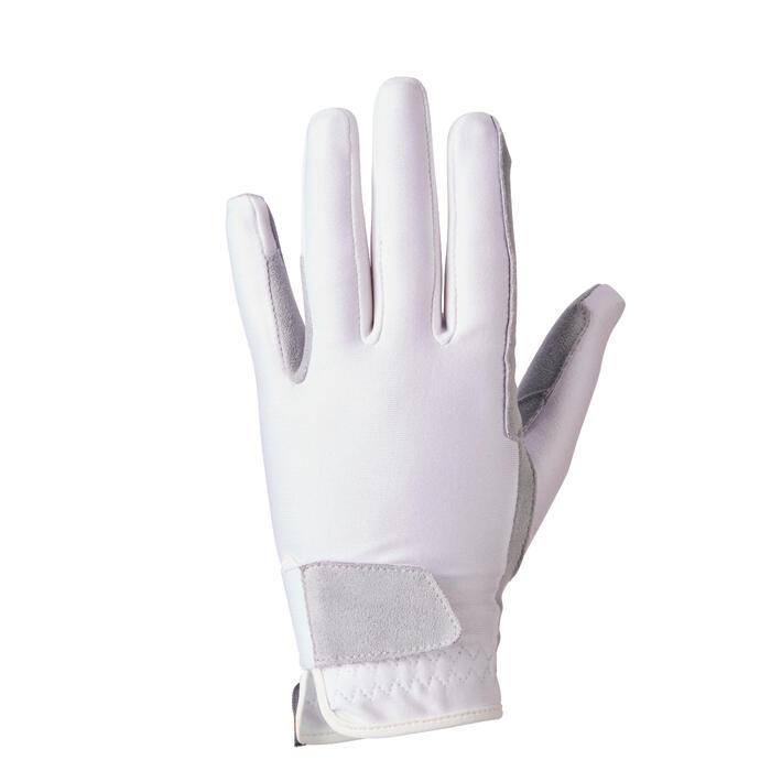 Basic Children's Horse Riding Gloves - White