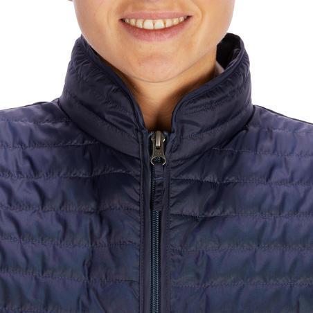 Gilet sans manche équitation femme 100 marine