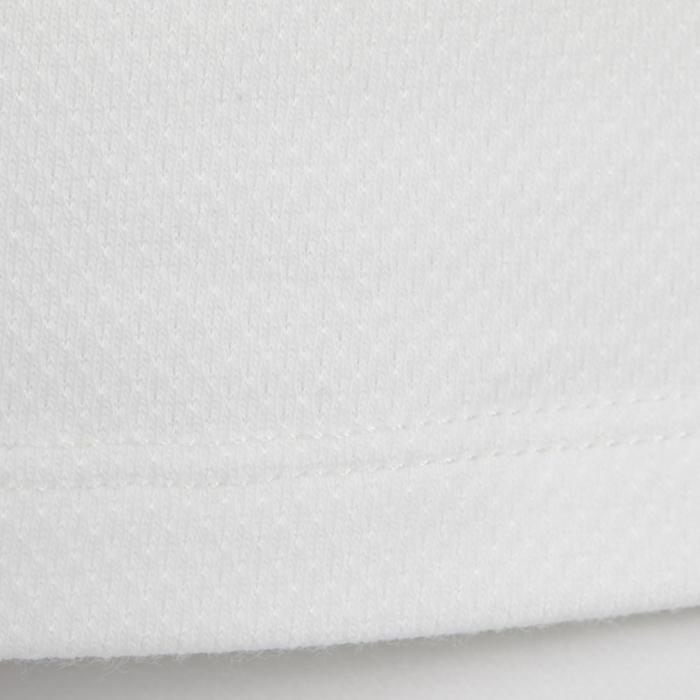 女款短袖馬術競賽Polo衫500-白色