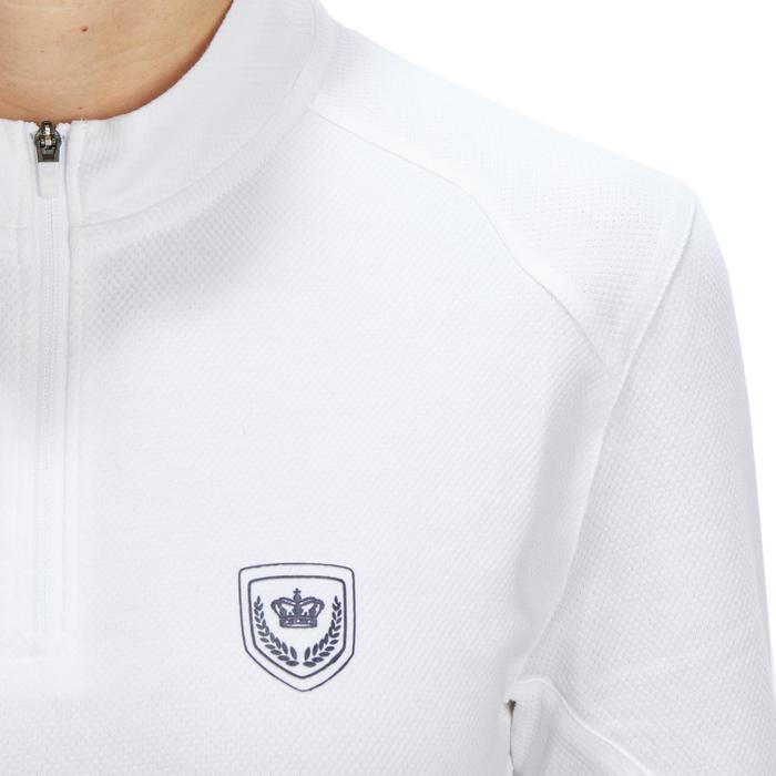 Polo manches courtes Concours équitation femme COMP500 blanc - 1256246