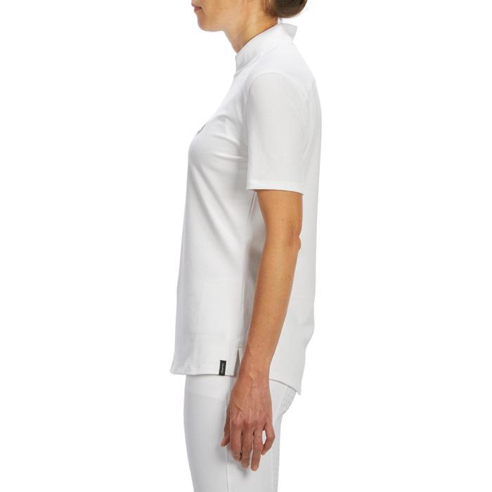 Polo manches courtes Concours équitation femme COMP500 blanc - 1256247