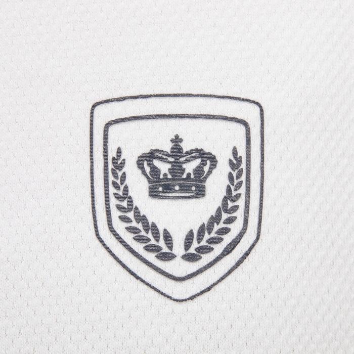 Wedstrijdpolo Comp500 ruitersport korte mouwen dames wit