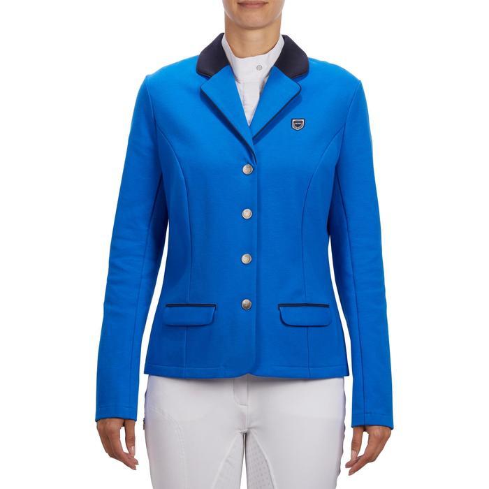 Veste de Concours équitation femme COMP100 bleu roi - 1256254