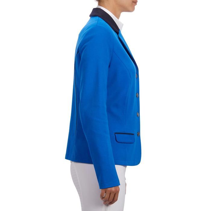 Veste de Concours équitation femme COMP100 bleu roi - 1256255