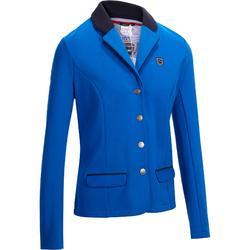 Chaqueta Concurso Equitación Fouganza 100 Mujer Azul Royal Competición