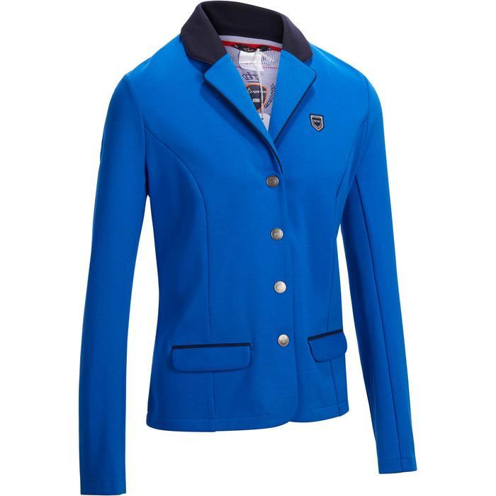 Veste de Concours équitation femme COMP100 bleu roi - 1256256