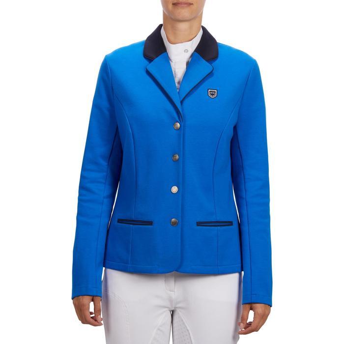 Veste de Concours équitation femme COMP100 bleu roi - 1256258