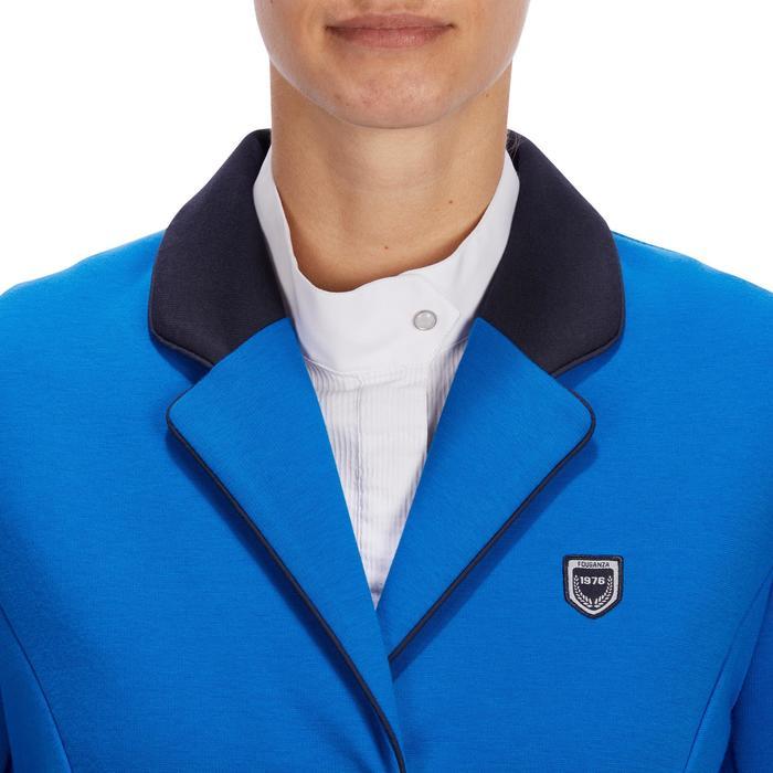 Veste de Concours équitation femme COMP100 bleu roi - 1256259