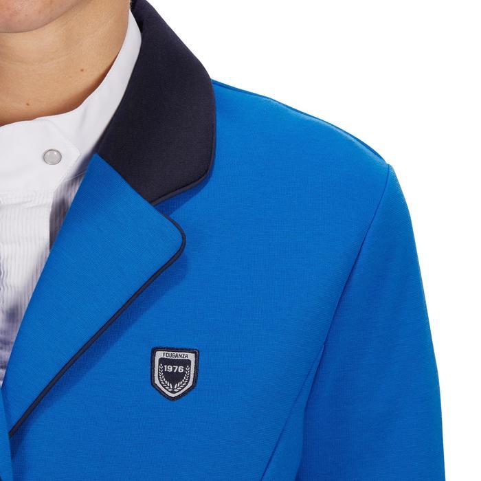 Fouganza Veste de Concours équitation femme COMP100 bleu roi   Decathlon 3297d5241756