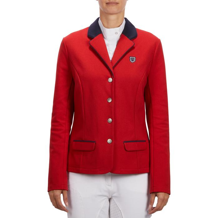 Veste de Concours équitation femme COMP100 bleu roi - 1256267