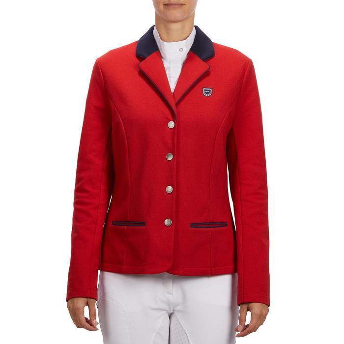 Wedstrijdjasje Comp100 voor dames ruitersport rood