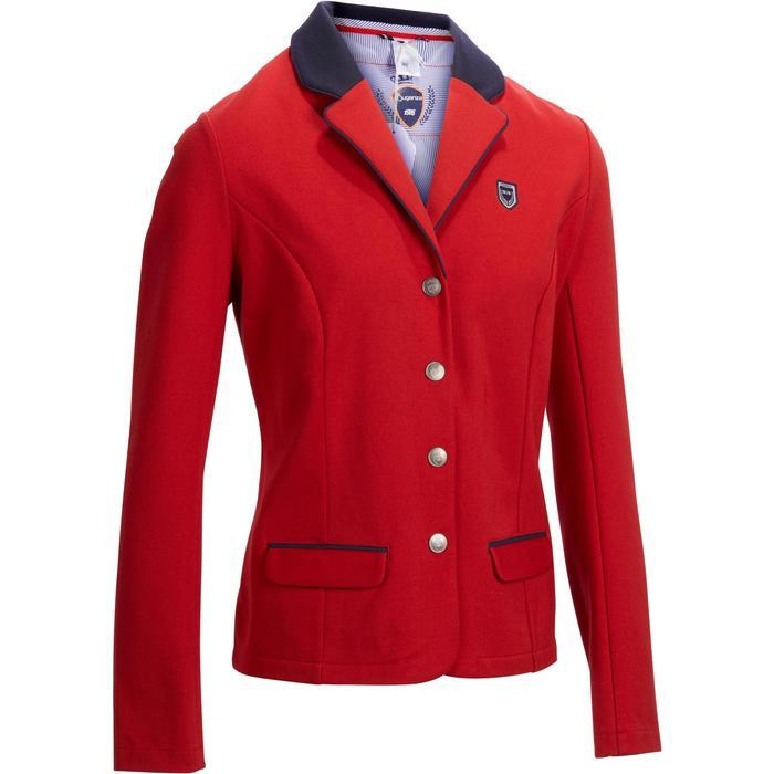 Veste de Concours équitation femme COMP100 bleu roi - 1256271