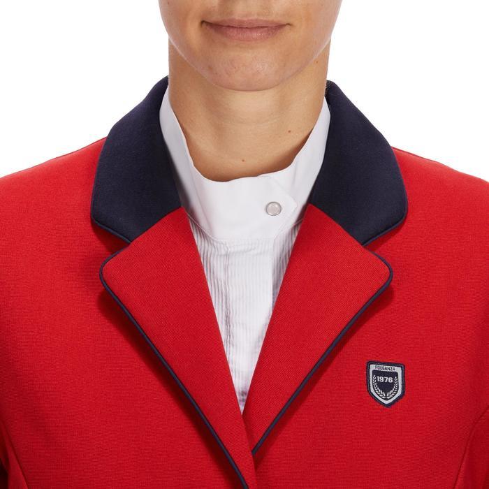 Chaqueta de Concurso equitación mujer COMP100 rojo