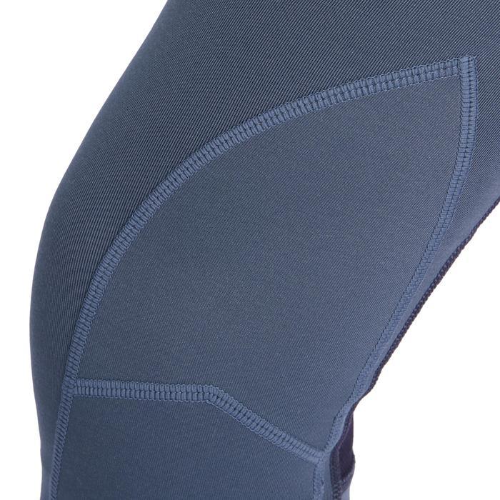 Reithose 100 Light Kniebesatz Kinder grau/marineblau