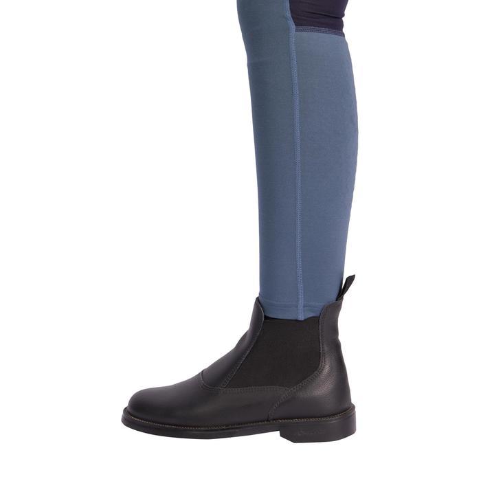 Pantalon équitation enfant 100 LIGHT gris et marine