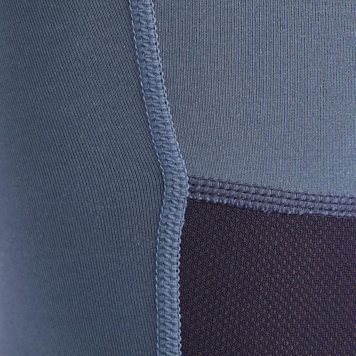 Pantalon équitation enfant BR500 MESH gris et marine