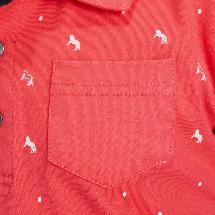 Polo manches courtes équitation fille PL140 GIRL motifs blancs - 1256327