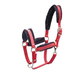 Set halster + halstertouw Winner ruitersport paard en pony rood