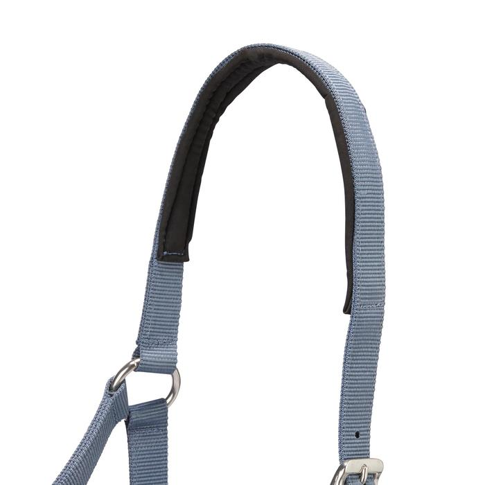 Halfterset Classic mit Führstrick Pony/Pferd grau