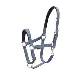 Halster + halstertouw Classic ruitersport grijs - pony of paard