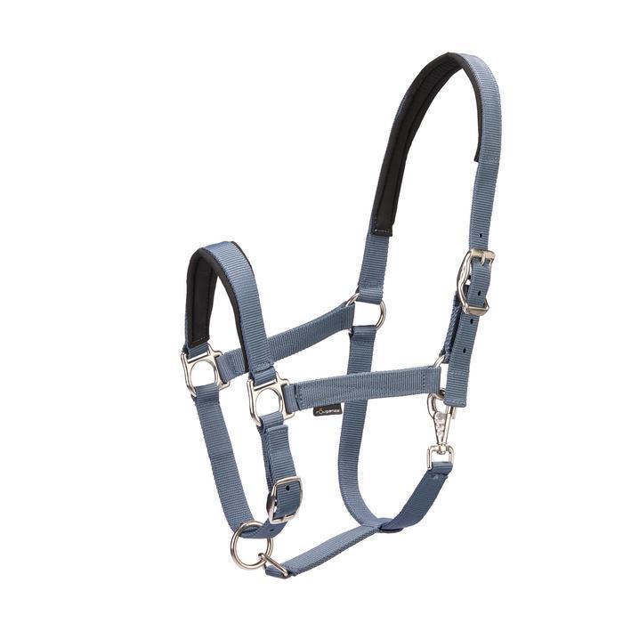 Licol + longe équitation poney et cheval CLASSIC gris