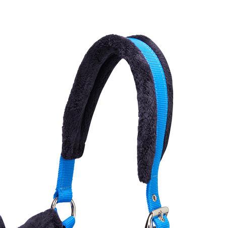 Winner Horseback Riding Halter + Leadrope Set for Horse and Pony - Royal Blue