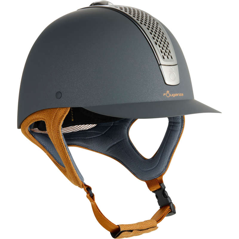 RIDING HELMETS - C700 Helmet - Grey/Camel FOUGANZA