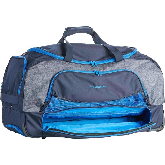 Sac de transport à roulettes équitation TROLLEY 80 L bleu et - 1256413