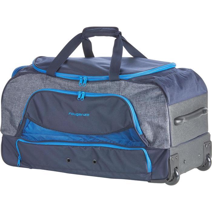 Sac de transport à roulettes équitation TROLLEY 80 L bleu et - 1256416