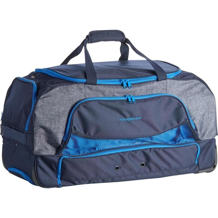 Sac de transport à roulettes équitation TROLLEY 80 L bleu et - 1256418