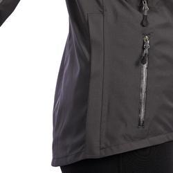 Chaqueta impermeable equitación mujer JKT500 gris carbono y motivos espigas
