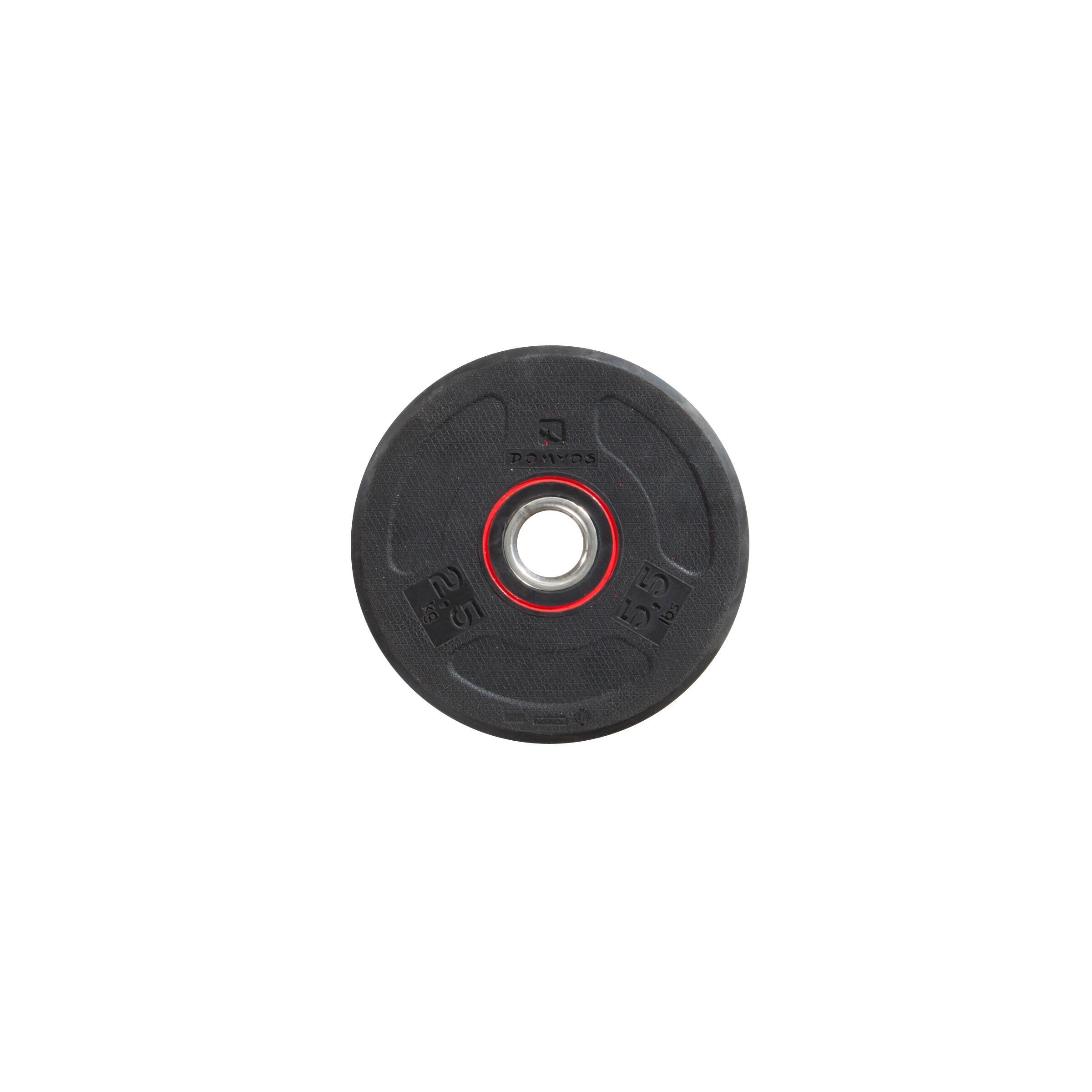 Disco de hule de fisicoculturismo 28 mm 2.5 kg