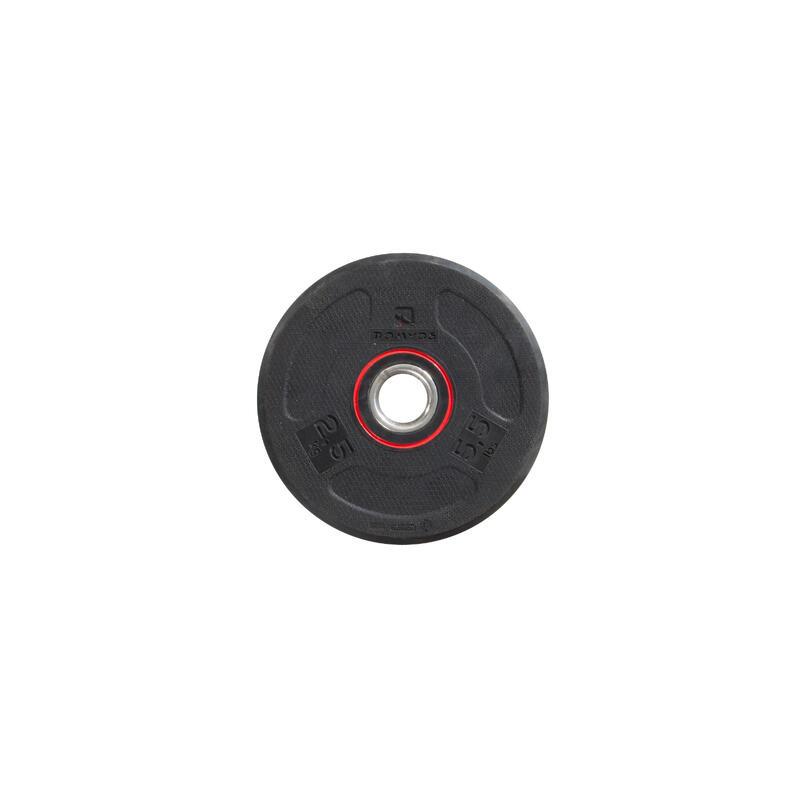 Disc Bodybuilding Cauciuc 2.5 kg 28 mm