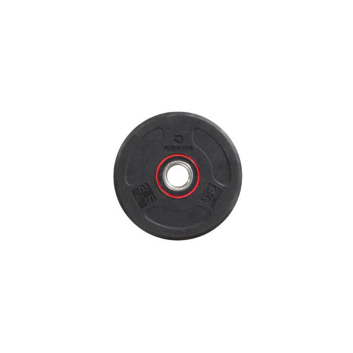 Disque musculation 28 mm caoutchouc 2.5 kg - 1256467