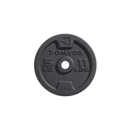 Disco de fundición 28 mm Musculación 0,5 kg. a 20 kg. Domyos Cross Fitness