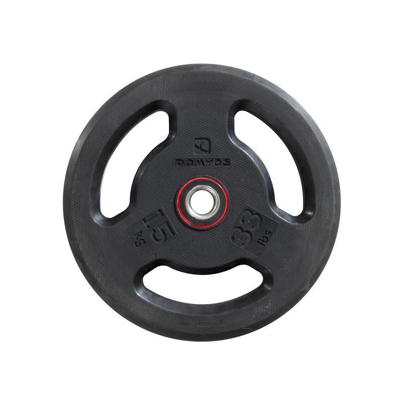 Rubber Weight Disc with Handles 28mm - 15kg