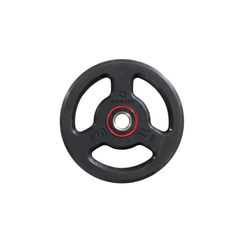 Rubber Weight Disc with Handles 28mm 5kg