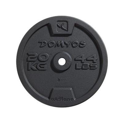 Disco de hierro musculación 28 mm