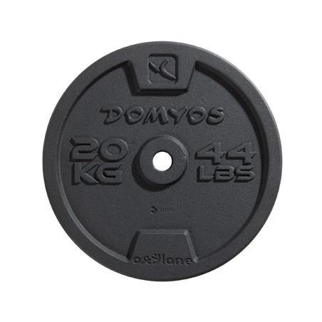 Disco Musculación de hierro fundido 28 mm 0,5 kg. a 20 kg.  Domyos Cross Fitness