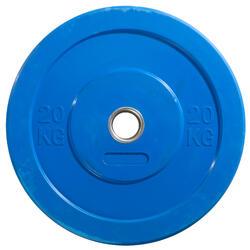 Hantelscheibe Bumper Plate O'Fitness 20 kg blau