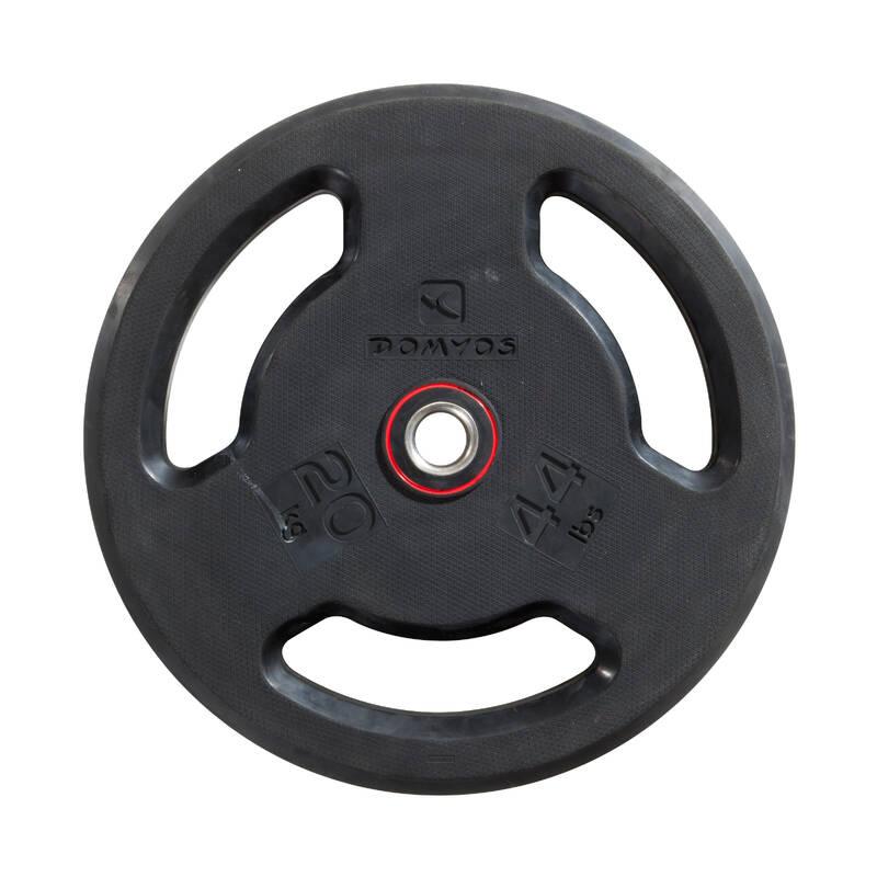 ZÁVAŽÍ, POSILOVACÍ TYČE Fitness - GUMOVÝ KOTOUČ 20 KG DOMYOS - Posilování a kruhový trénink
