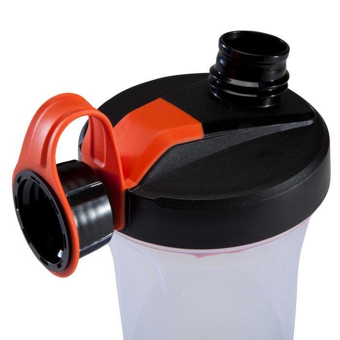SHAKER MUSCULACIÓN DOMYOS Negro-Naranja 700 ml