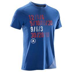 T-shirt crosstraining 500 heren blauw