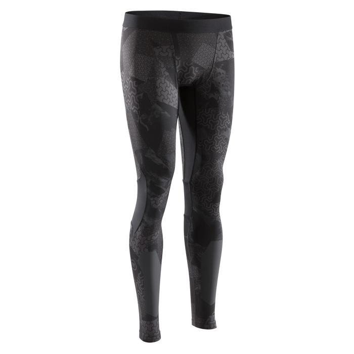 Legging crosstraining 500 heren zwart/print