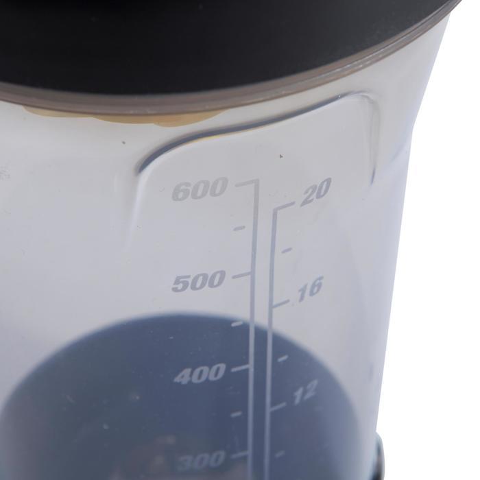 SHAKER MUSCULACIÓN DOMYOS Negro-Amarillo 700 ml
